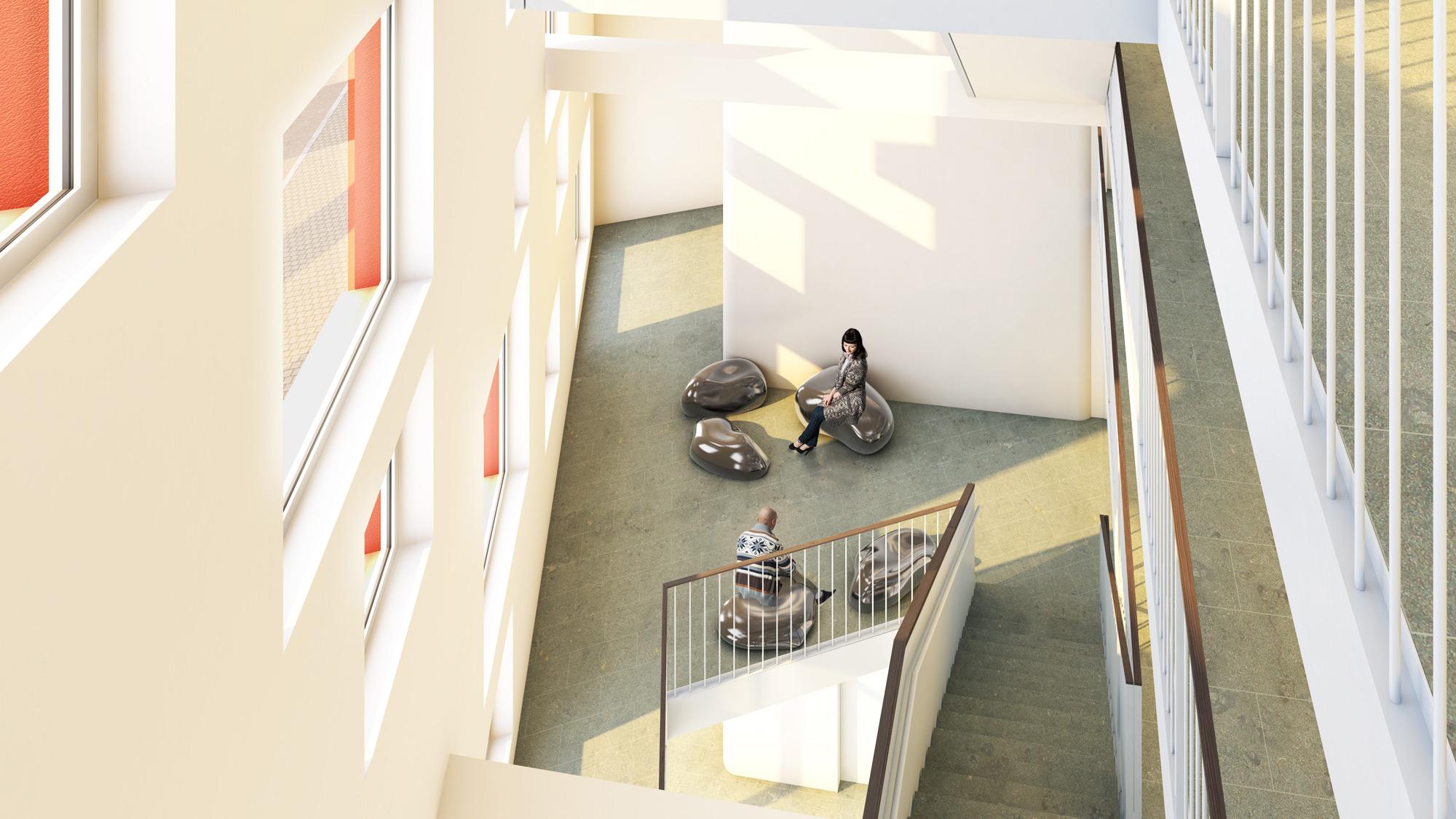 Visualisierung - Ansicht Treppenhaus - studiosus 5