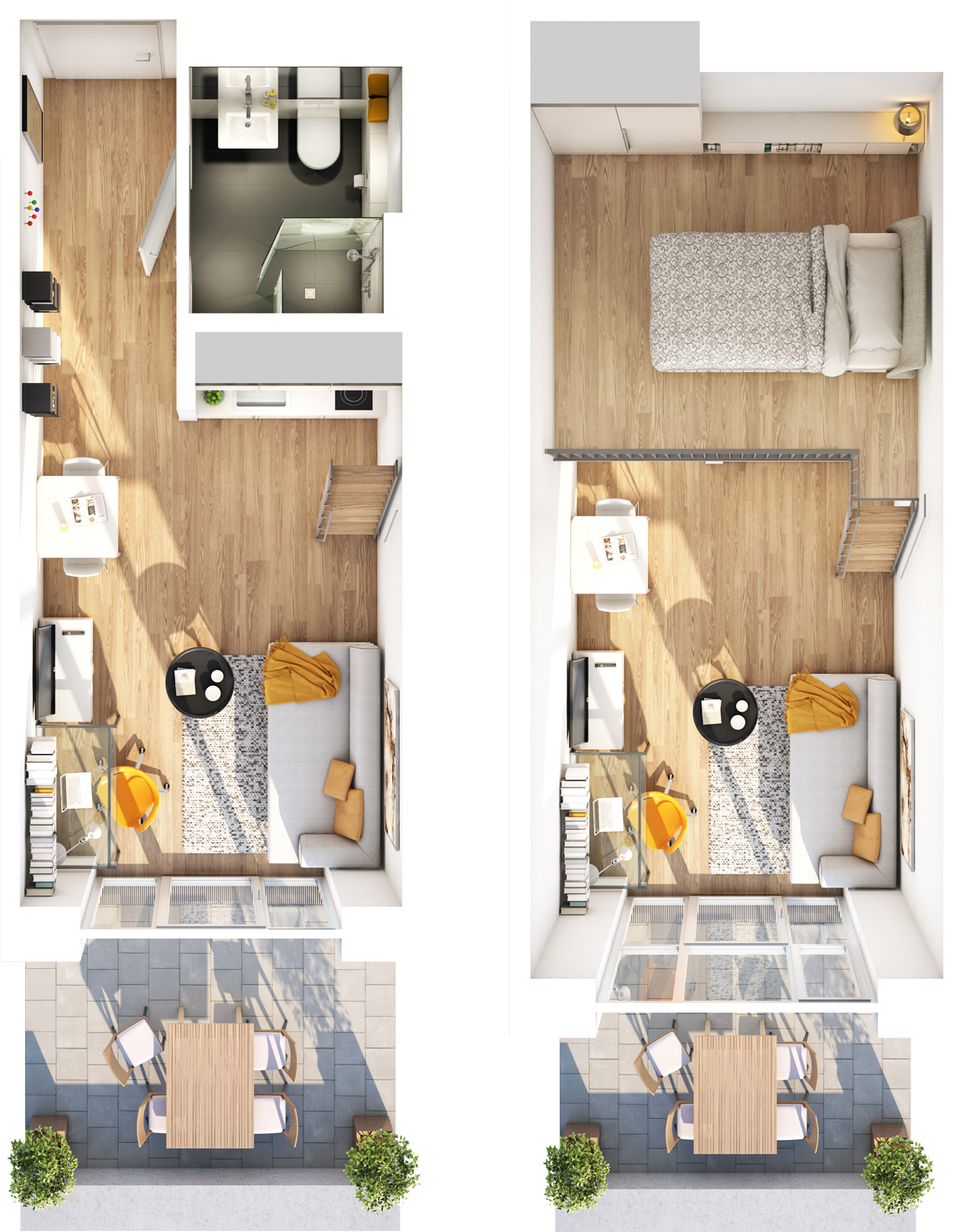 studiosus 5  Apartment, Wohnung in Augsburg kaufen