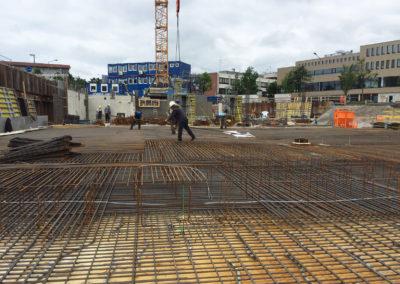 Verlegung des Baustahls